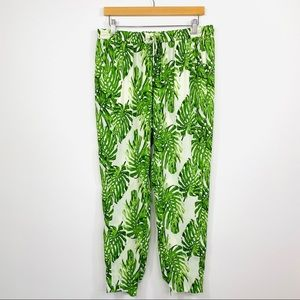 Piper Casual Pants Monstera Green White Size 14